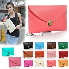 Womens Envelope Clutch Chain Purse Lady Handbag Tote Shoulder Hand Bag New