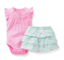 Carters Newborn 3 6 9 12 18 24 Months Bodysuit & Skirt Set Baby Girl Outfit