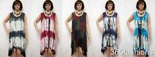 PLUS SIZE FUNKY TIE DYE BOHO CHIC NOMAD HIPPIE TUNIC DRESS 16 18 20