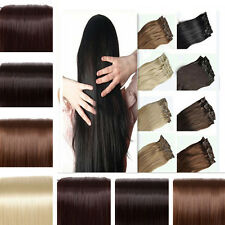 US 150g 8 pcs full head clip in on synthetic hair extensions extension Grade AAA