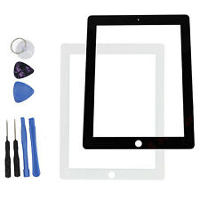 Outer LCD Screen Glass Lens Replacement for Apple iPad2/3/4 +Tools White & Black