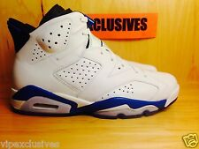 NIKE AIR JORDAN RETRO 6 VI SPORT BLUE-WHITE 2014 SZ 4-13 IN HAND & SHIPPING FAST