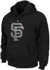 San Francisco Giants Black Majestic Camouflage Logo Hoodie Men Big & Tall Sizes