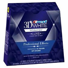 CREST3D PROFESSIONAL EFFECTS LUXE WHITENING STRIPS TEETH 1,3,5,7,10,14,20