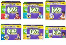 Luvs Ultra Leakguard Disposable Baby Diapers Size 1-6, Select Size New