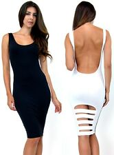 Jekyll and Mr. Hyde COLOR BLOCK Reversal SLASHED Scoop Back 11132 Body-Con Dress