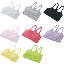 Sexy Lady Girl Cozy Breathable Sports Gym Yoga Wrap Chest Strap Solid Crop Tops
