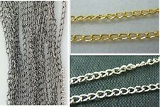 Wholesale 10pcs Silver Plated/Gold Plated/Black Chain Jewerly Findings 2x3mm