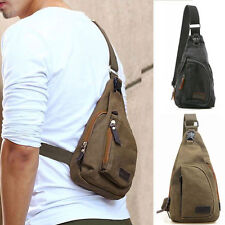 New Men's Small Canvas Shoulder Sports Fanny Crossbody Rucksack Mini Bag