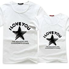 HOT star I love You Cotton clothes men women lovers couple short-sleeved Tshirts