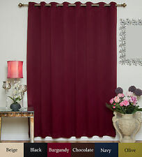 Wide Width Antique Brass Grommet Top Blackout Curtain 100 Inch by 96 Inch Panel
