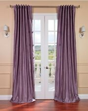 Vintage Faux Silk Curtain Smoky Plum Panel Modern Elegant Home Decor Bedroom NEW