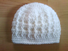 Handmade Crocheted Baby Unisex Beanie Hat with a Cable Pattern  various sizes
