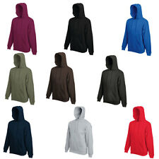 New Fruit Of The Loom Mens Long Sleeved Hooded Pullover Sweatshirt Size S - XXL