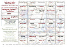 50 Personalised Sporting Fundraising/Scratch Cards