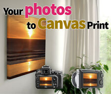"Premium Custom Photo to Canvas Print Printing  stretched on 1.5"" wood"