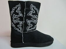 ROPER - Women's Ugg Boots - Faux Shearling Lined - Black - ( 21532695 ) - New