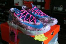 New Nike KD 6 VI Aunt Pearl Floral 12 Kevin Durant White Pink Flower Blue 2014