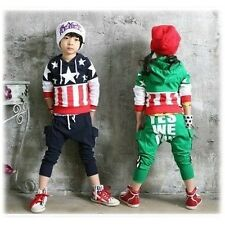 Trainingsanzüge US FLAG Baby Kinder Hoodies Mantel Hose sport dres YES WE CAN