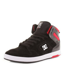 MENS DC NYJAH HIGH BLACK RED WHITE HI-TOP SKATE SURF CASUAL TRAINERS SHOES SIZE