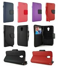 For LG Volt LS740 Leather Wallet Flip Protect Case Cover w/ Card Holder & Strap