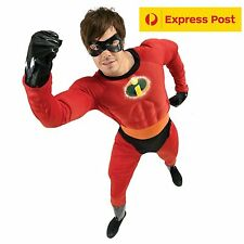 Mr Incredible Mens Costume Licensed Muscle Chest Halloween Fancy Mens M~XL