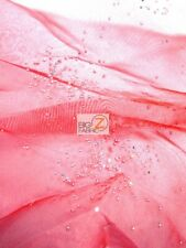"CRYSTAL SPARKLE ORGANZA FABRIC - 16 Colors - 50""/52"" WIDTH SOLD BY THE YARD"