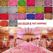 100pcs Various Colors Silk Flower Rose Petals Wedding Party Decorations