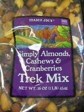 Trader Joe Trek Trail Mix All Types Nut Dried Fruit Almond Cashew Peanut 1-3 Bag