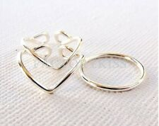 3Colors Retro Simple Stylish V Shape Adjustable Toe Rings Joint Ring WUS