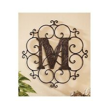 Decorative Metal Letters Wall Mounted Hang Rustic Decor Medallions Sign Alphabet