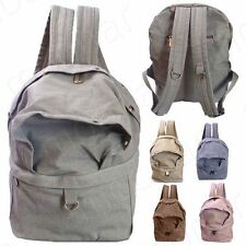 Vintage Unisex Canvas Backpack Rucksack Satchel Travel Hiking School Bag Bookbag