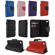 For Apple iPhone 4 4S Magnetic Flip Leather Wallet Flip Case Cover w Card Holder