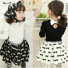 New Kids Toddler Girls Clothes Blouse Tops Tutu Dress Skirt  Outfits Sets Sz2-7Y