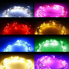 3M 10FT 30 LEDS Silver Copper Wire LED Starry Light String Fairy Party 8 Colors