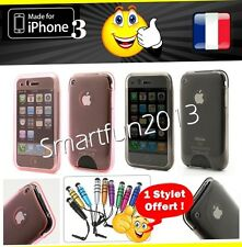 STYLET + Etui Coque housse iPhone 3 /3G /3GS Case Cover Caja Caso SILICONE