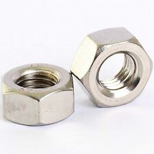 A2 STAINLESS STEEL HEXAGON LEFT HAND THREAD FULL NUTS HEX REVERSE NUT