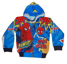 SPIDERMAN SUPER CUTE  boy girl Kids Casual Zipped fleece coat Jacket  Hoodie C30
