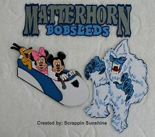 DISNEY MATTERHORN BOBSLEDS YOU CHOOSE Scrapbook Page Paper Piecing Piece SSFFDeb