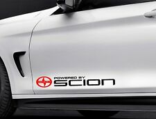 2 set POWERED BY SCION FR-S iQ tC xB xD Side skirt stickers decals 23""