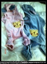 Dog Bear Pajamas  X small BLUE the cutest ones  last ones PJs  New tags  hoodie