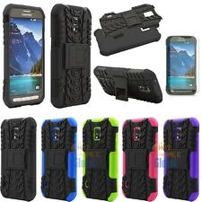 For Samsung Galaxy S5 Active G870 Tank Case Cover Armor Kickstand Combo + Film