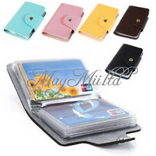 Purse Leather Business Credit ID Card Holder Case Wallet For24 Cards Sales M