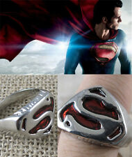 Hot Comic DC Comics Man of Steel Superman Ring! Cosplay Costume Jeweller 5 Sizes