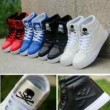 New Men&Women Fashion Casual High-top Sneakers Patent Leather Board Shoes ZD80