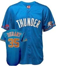 Kevin Durant #35 OKC Majestic NBA Baseball Style Jersey Big & Tall Sizes