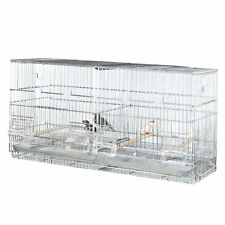 Bellas Bungalow Galvanized Steel Divided Breeding Bird Cage - Stackable!