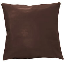 pe242a Root Beer Brown Faux Leather Classic Pattern Cushion Cover/Pillow Case
