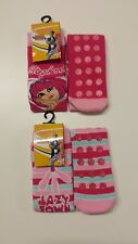 Official Lazy Town Slipper Socks with Grip UK 9-12 Single or LOT of 4 Pairs