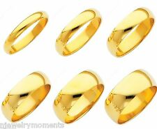 Guaranteed 10K SOLID Yellow Gold Men Women Wedding Band 2mm 3mm 4mm 5mm 6mm Ring